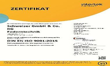 ISO 9001 SCHWEIZER