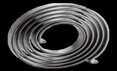 Spiral spring for motor support