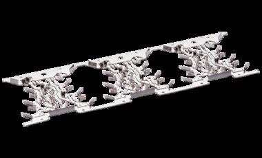 Trägerstreifen mit Funktionselementen zum Aufbau von elektrischen Schaltungen