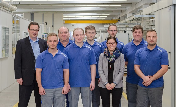 EBERLE trainees finish with best marks their apprenticeship