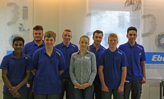 The first day at EBERLE in Schwabmünchen. The new trainees are very excited of what to expect