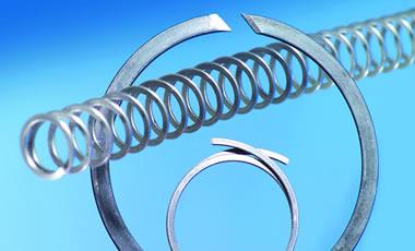 Unsere Flachdrähte im Einsatz von Spiralfedern.
