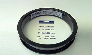 Ultra-fine wires as round wire and flat wire