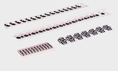 Bandumspritzte Kontaktteile