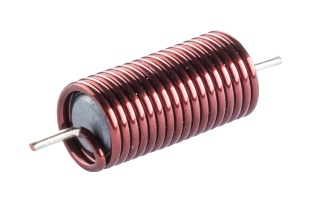 Enameled copper coil with ferrite core