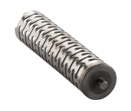 Bourdon spring with pin for automotive application