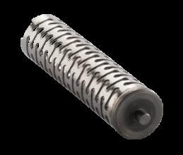 Rohrfeder mit Bodendeckel und Pin für die autimotive Anwendung.