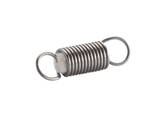 We manufacture tension springs with damper elements to reduce noise.